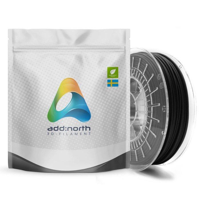 Addnorth Textura filament för 3D-skrivare 1,75 mm Mattsvart