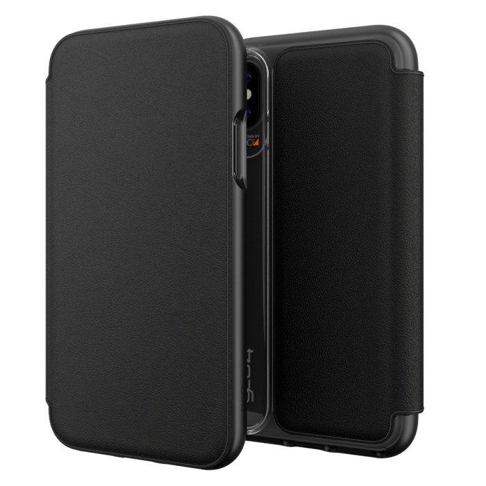 Gear4 Oxford Leather Tålig mobilplånbok för iPhone X och Xs