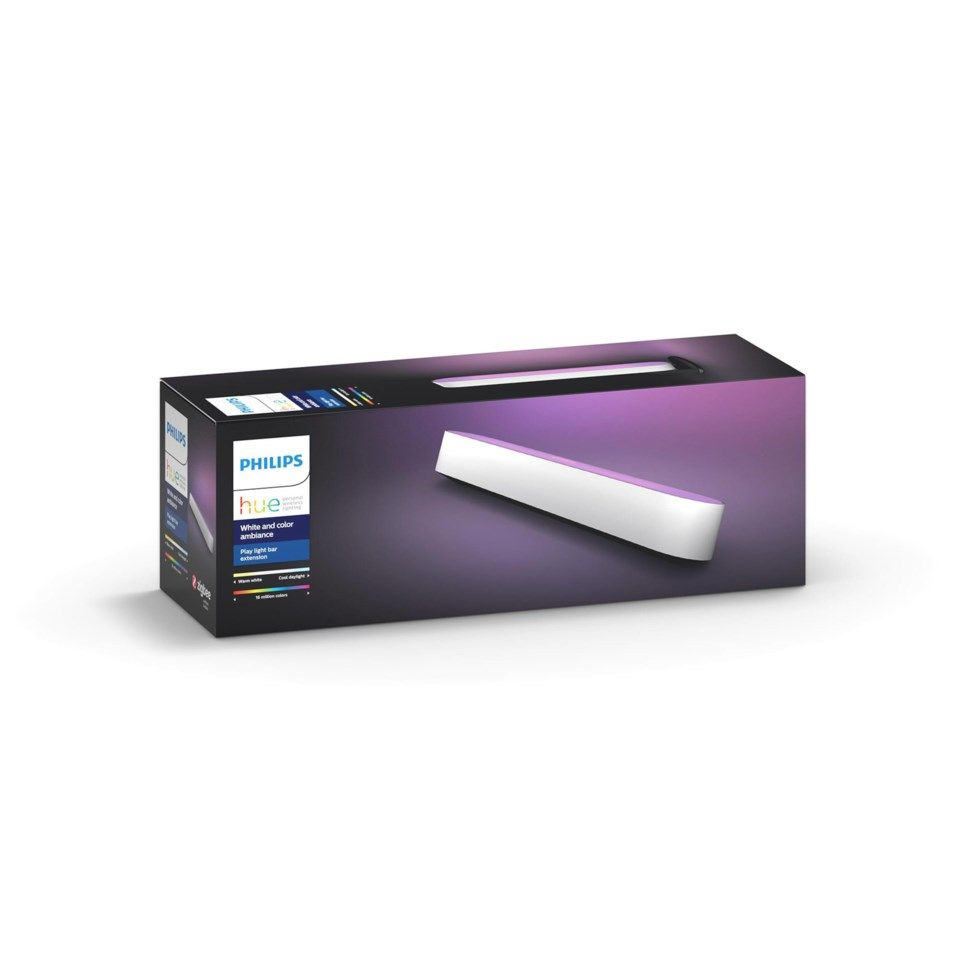 Philips Hue Play Extension Ekstralampe - Hvit