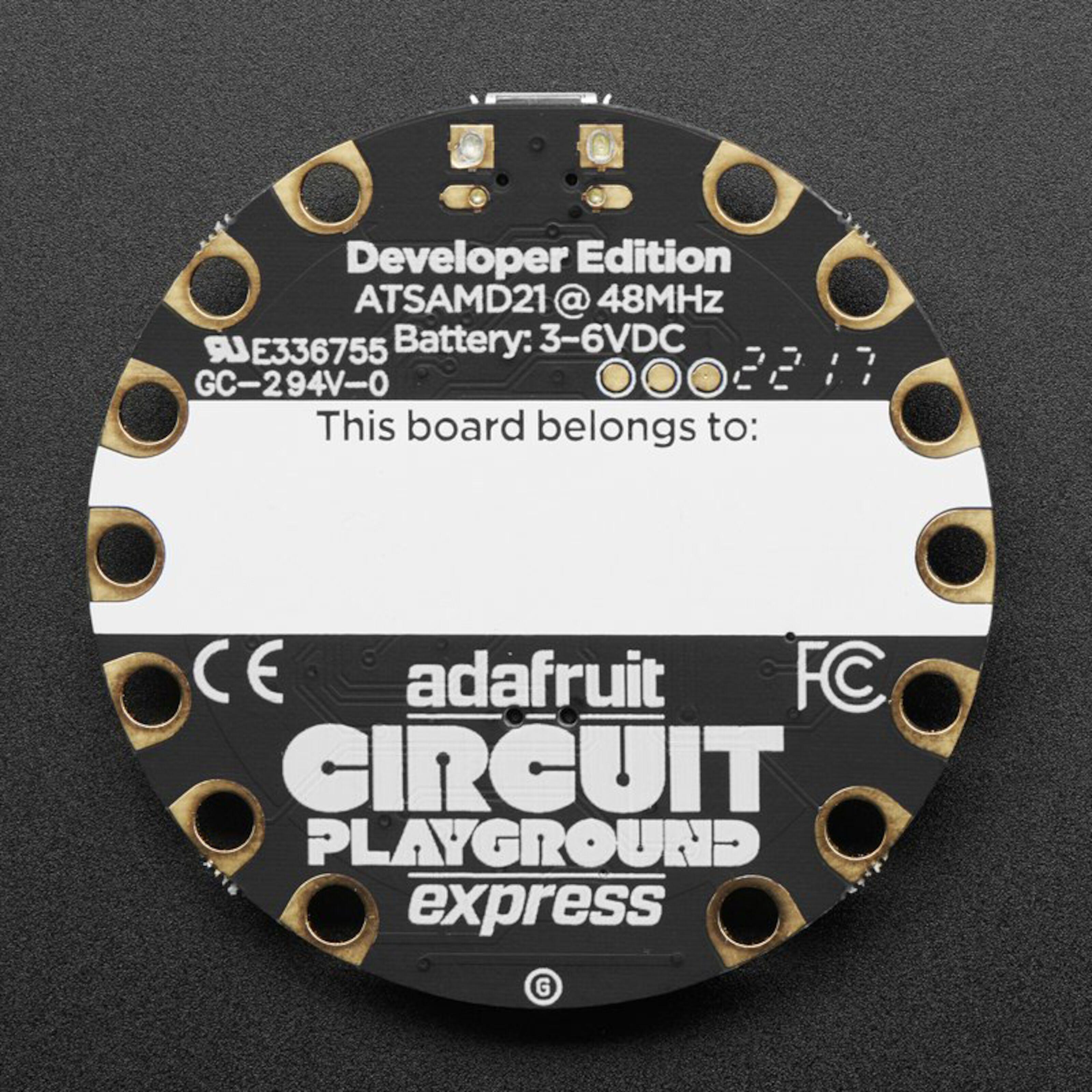 Adafruit Circuit Playground Express Utviklingskort |
