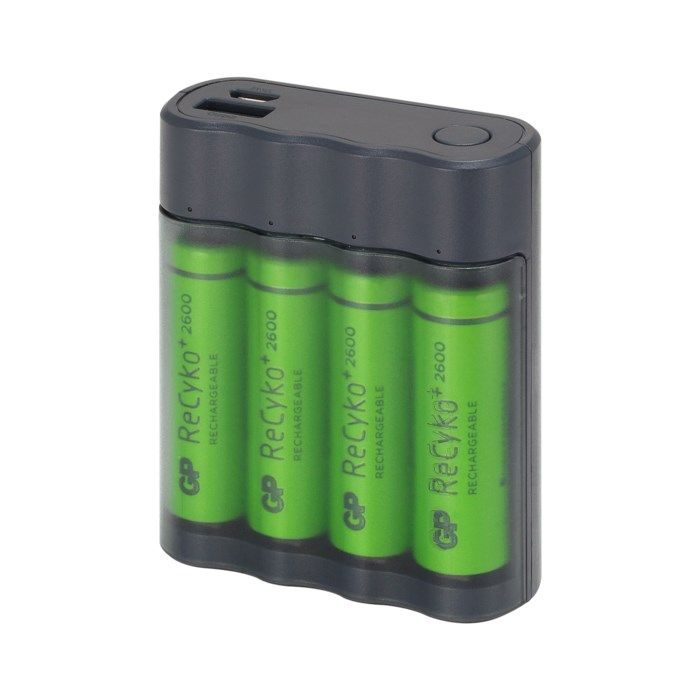 GP ChargeAnyway USB-Batteriladdare med powerbank-funktion
