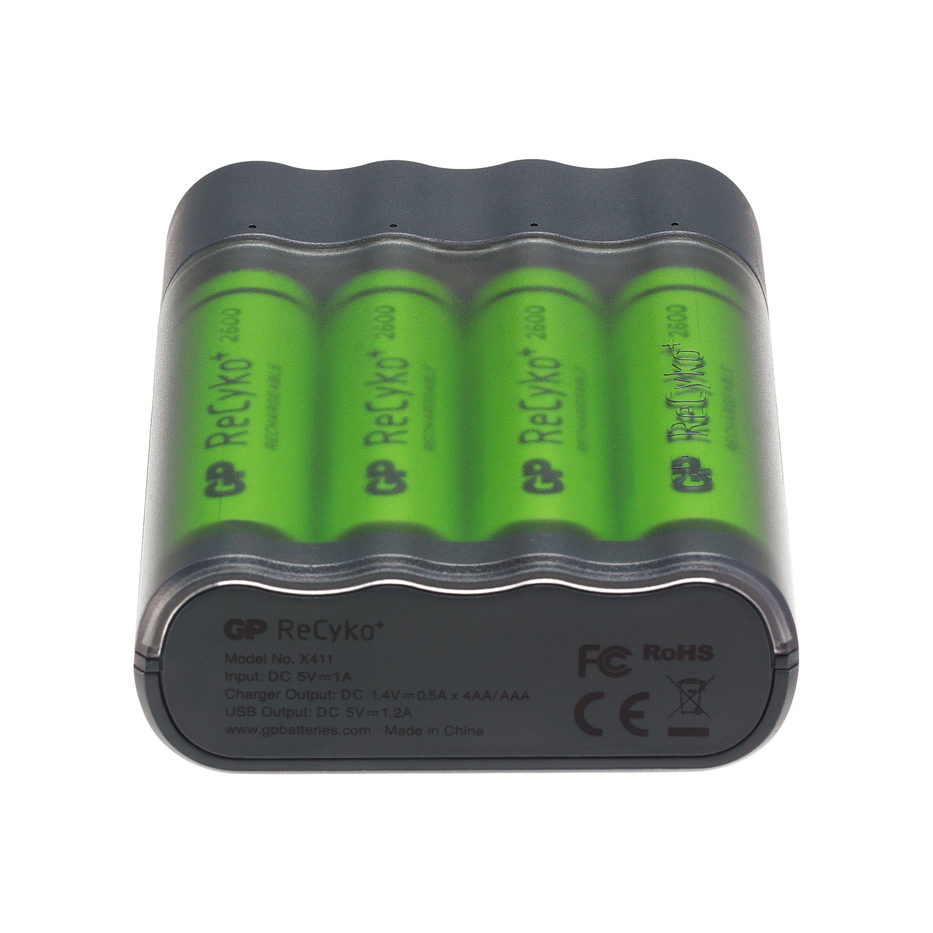 GP ChargeAnyway USB batterilader med powerbankfunksjon