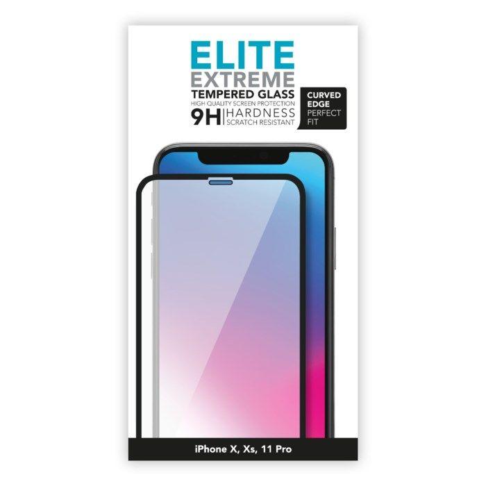 Linocell Elite Extreme Curved Skärmskydd för iPhone X, Xs och 11 Pro