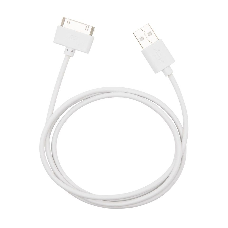 Linocell USB-kabel för iPhone 30-pin Vit 1 m