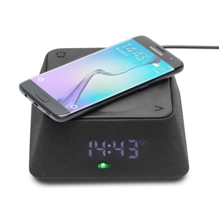 Rubicson Väckarklocka med Qi-laddning och Bluetooth