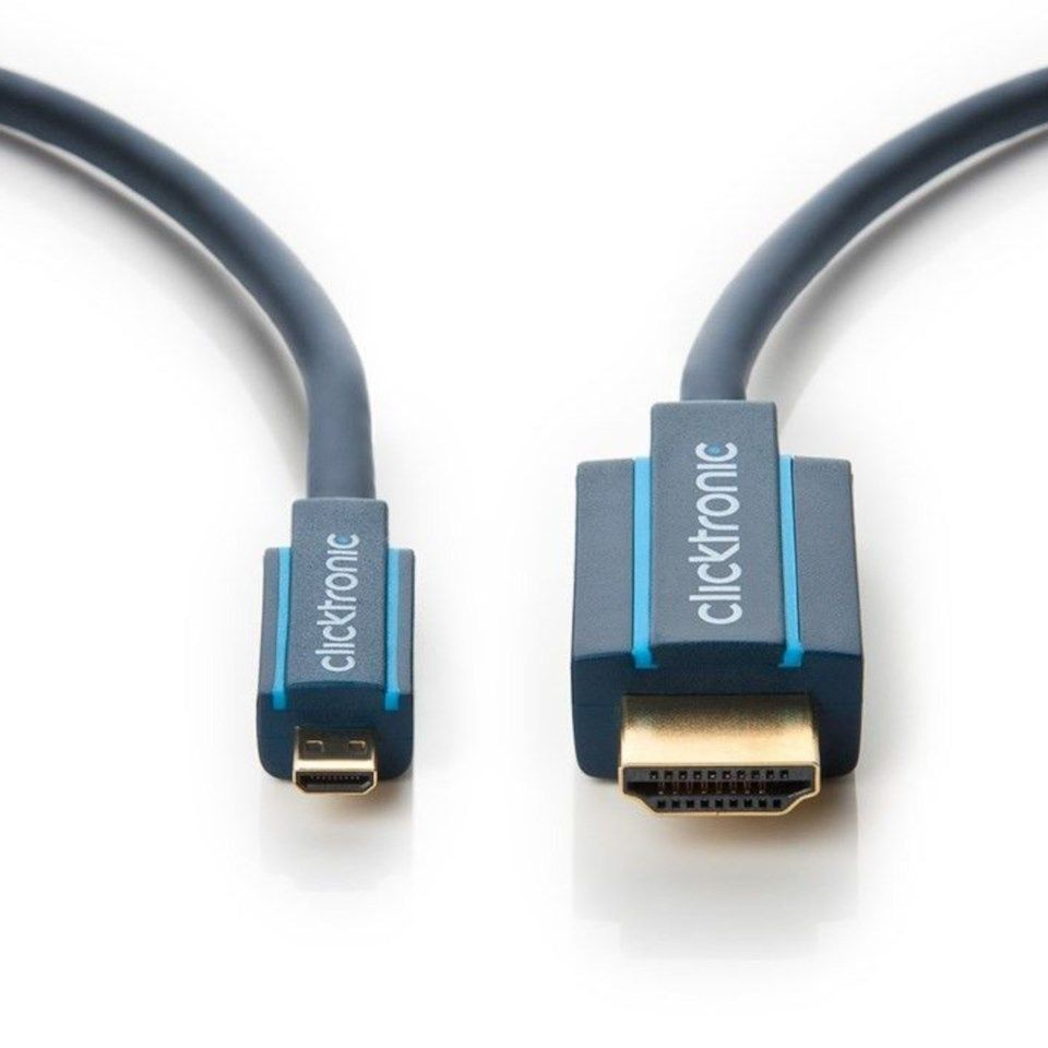Clicktronic Micro-HDMI-kabel High Speed 1 m