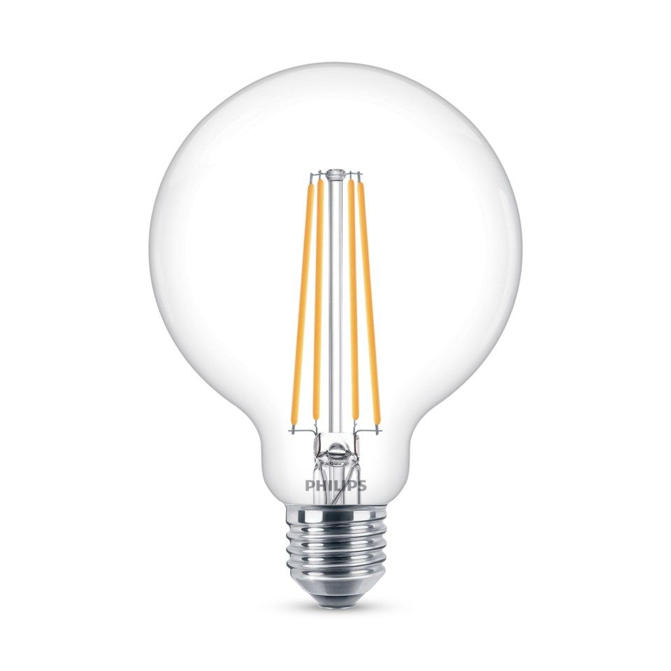 Philips LED-filament G95 Glob E27 806 lm