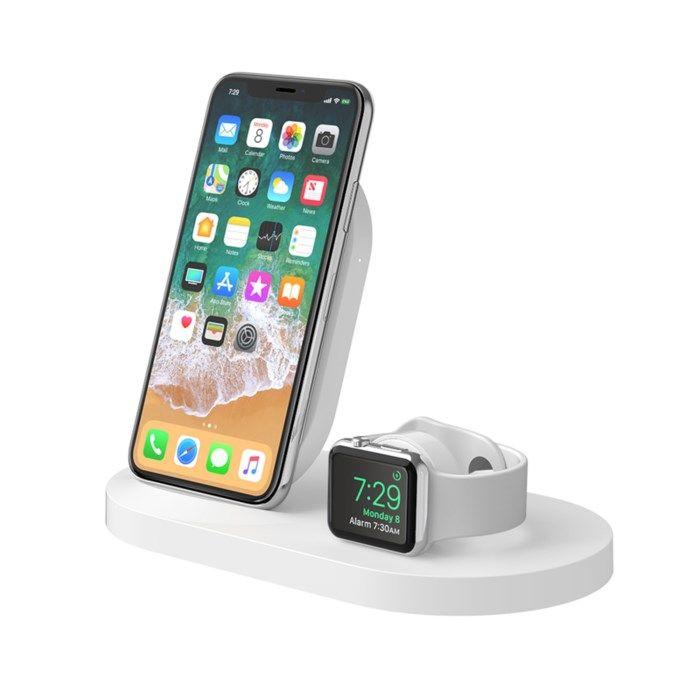 Belkin Boost Up Trådlös Qi-laddare för mobil och Apple Watch Vit