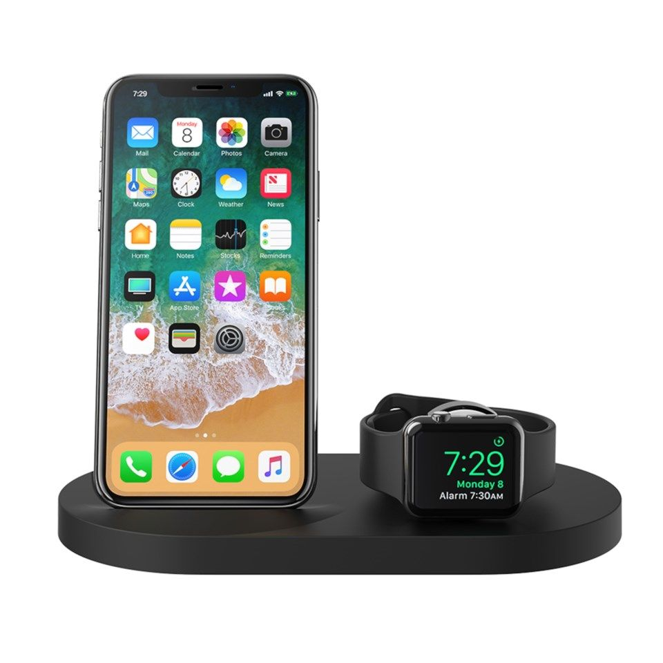 Belkin Boost Up Trådløs Qi-lader for mobil og Apple Watch Svart