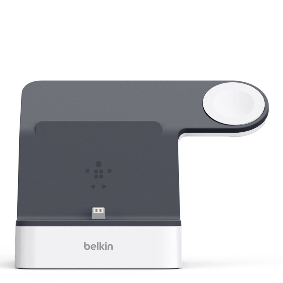 Belkin Boost Up Powerhouse Dockningsstation för iPhone och Apple Watch Vit