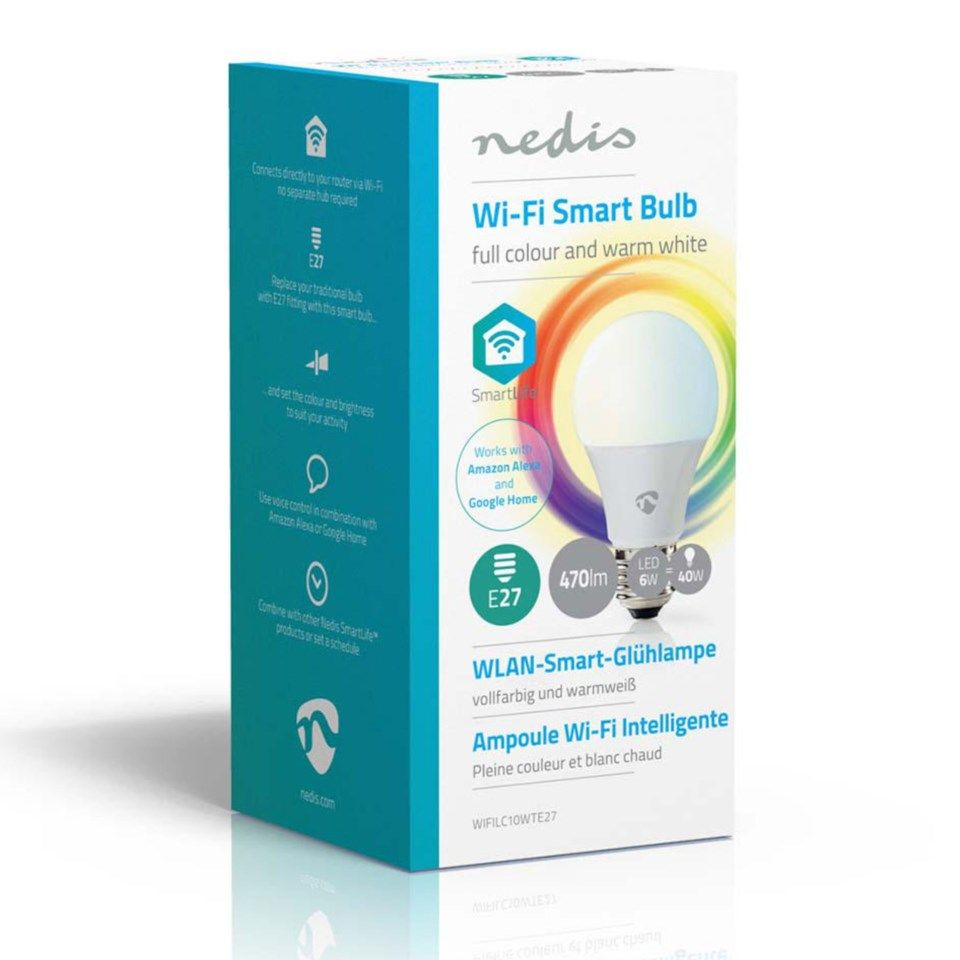 Nedis Smartlife Smart LED-lampa E27 RGBWW