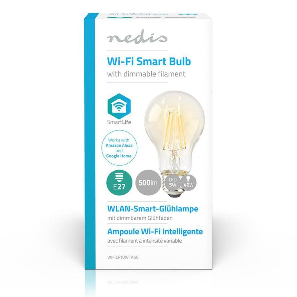 Nedis Smartlife Filament Smart LED-filamentpære E27 500 lm