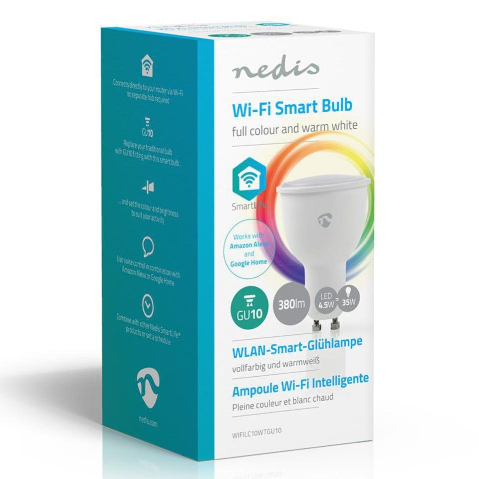 Nedis Smartlife Smart LED-pære GU10 RGBWW