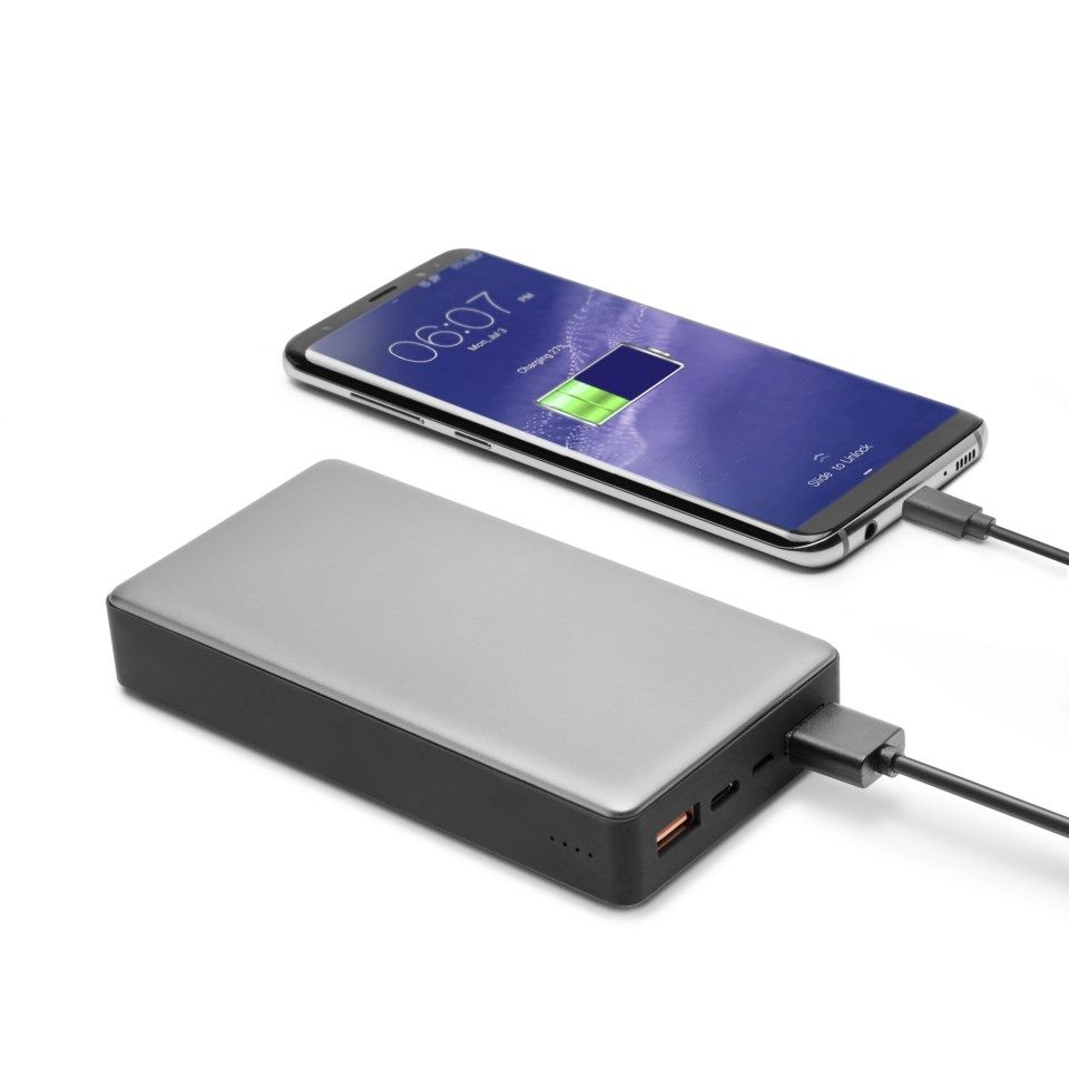 Linocell Premium Powerbank med Quick Charge 3.0 och USB-C PD 20000 mAh