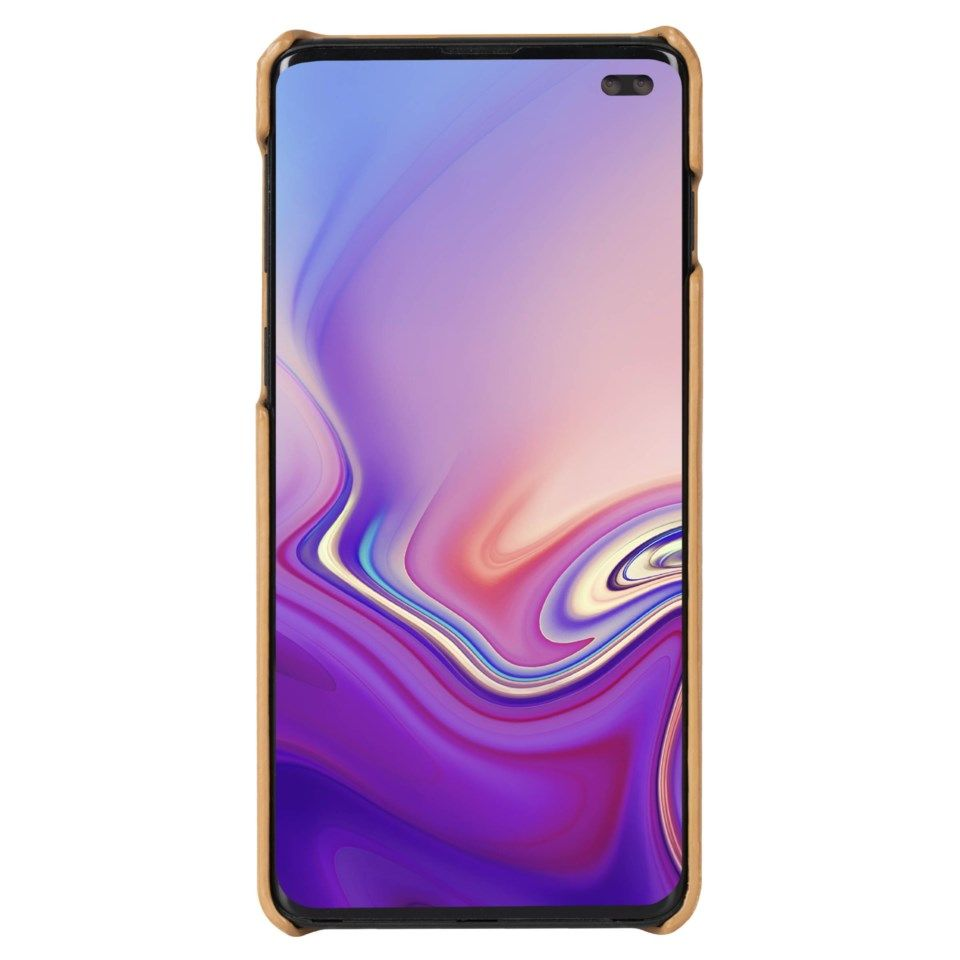 Krusell Sunne Deksel i skinn for Galaxy S10 Plus Brun