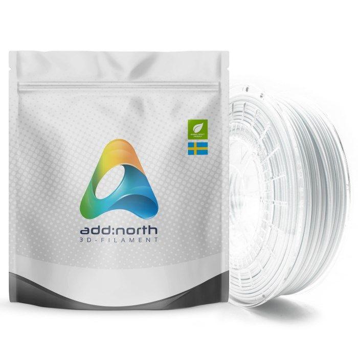 Addnorth E-PLA-filament för 3D-skrivare 1,75 mm Kallvit