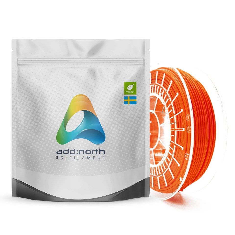 Addnorth PETG-filament for 3D-skrivere 1,75 mm Lucent Orange