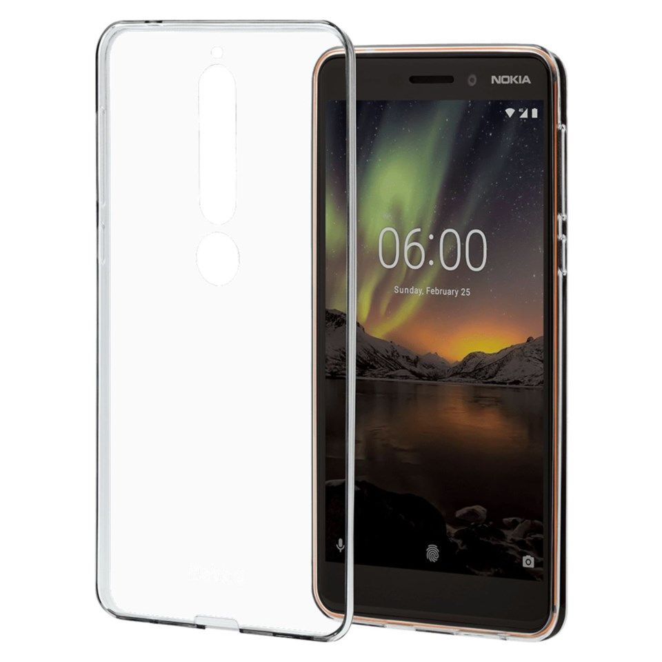 Nokia Clear Case Mobildeksel i TPU for Nokia 6.1
