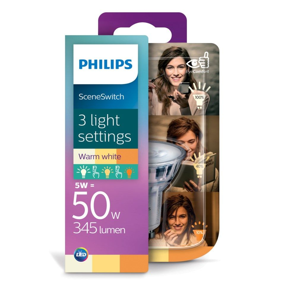 Philips Sceneswitch LED-lampa GU10 350 lm