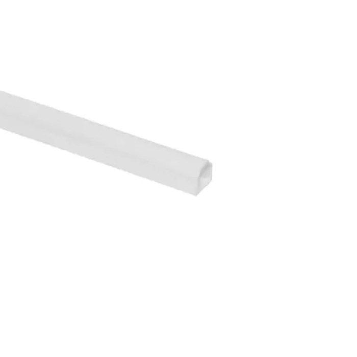 Kabelkanal med mjukläpp vit Ø5 mm 2 m