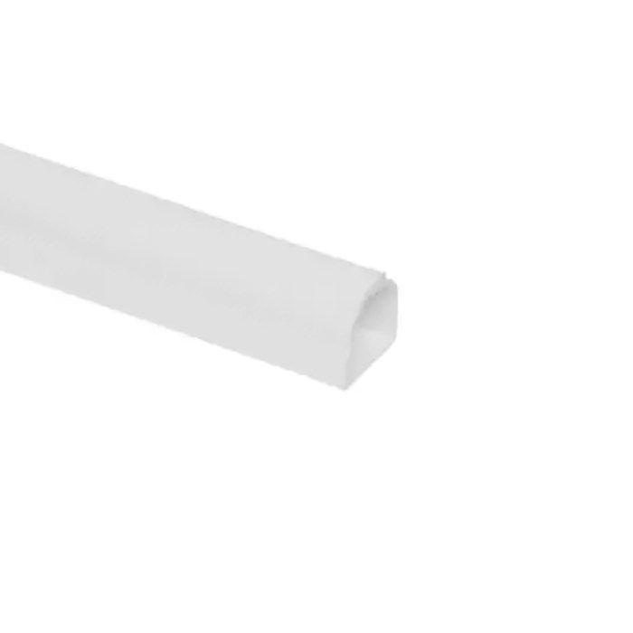 Kabelkanal med mjukläpp vit Ø10,5 mm 2 m