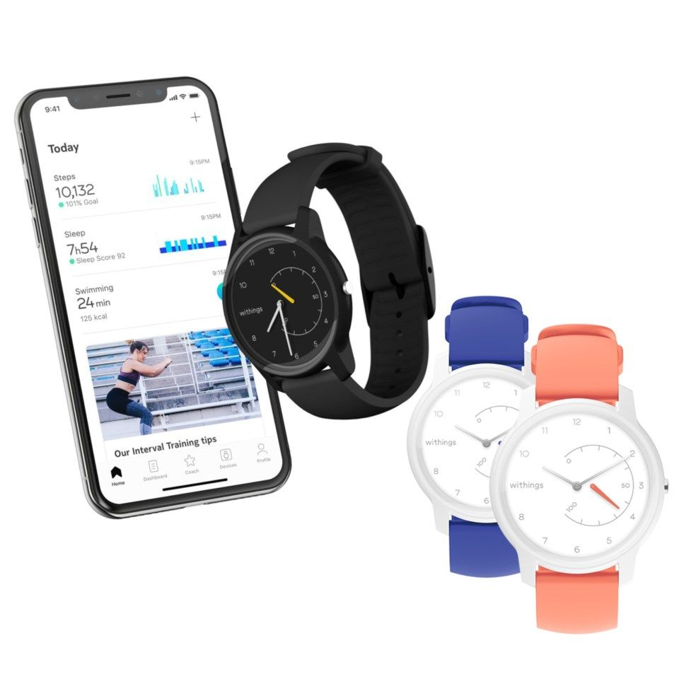 Withings Move Aktivitetsarmbånd Svart/Gul