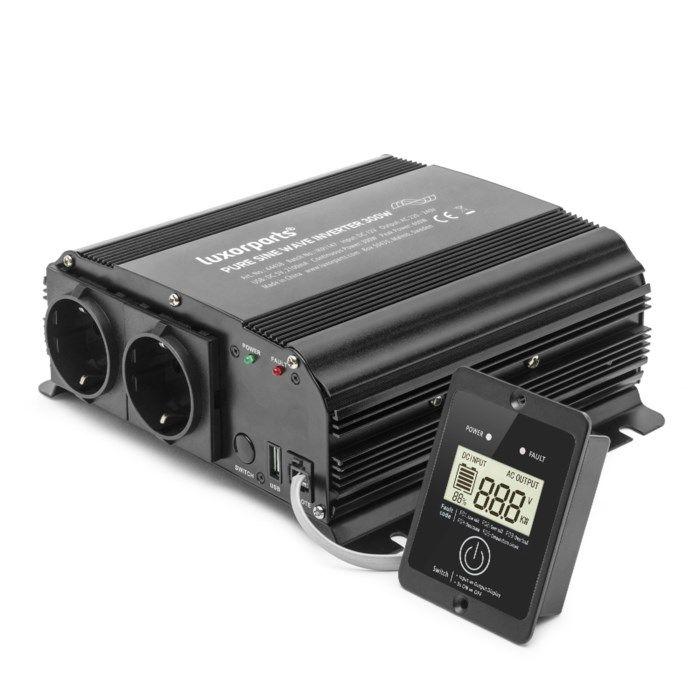 Luxorparts Växelriktare med ren sinusvåg 300 W