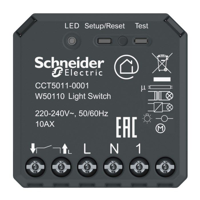 Schneider Electric Wiser Infälld Bluetooth-fjärrströmbrytare