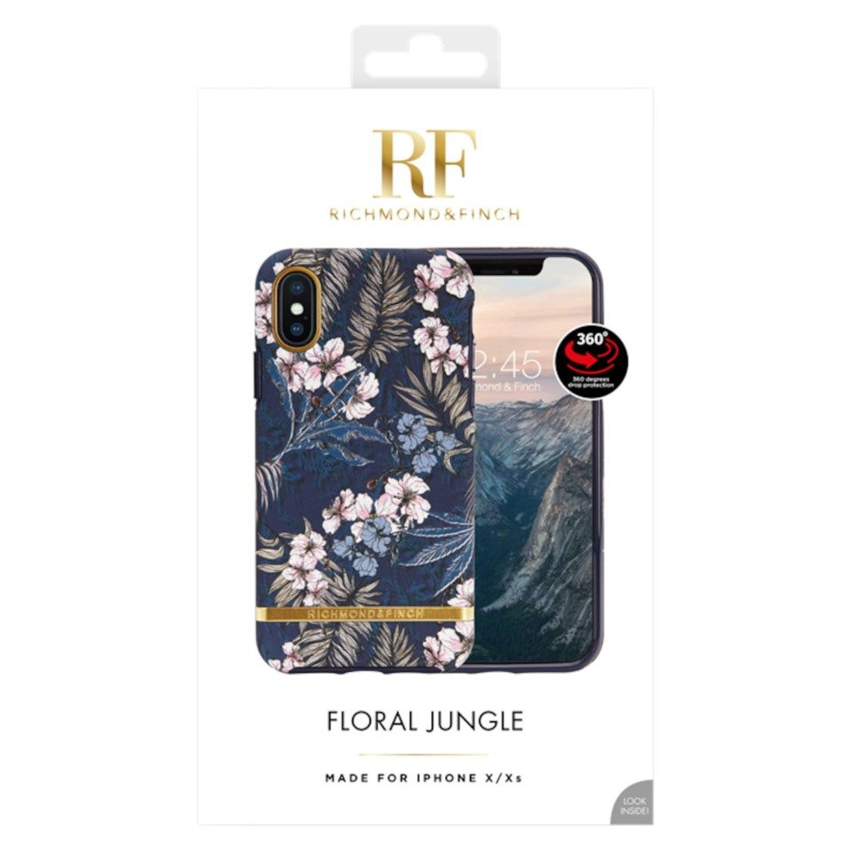 Richmond & Finch Freedom Case Mobildeksel for iPhone X og Xs Floral Jungle