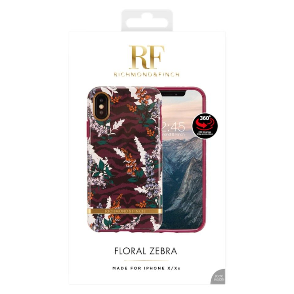 Richmond & Finch Freedom Case Mobildeksel for iPhone X og Xs Floral Zebra