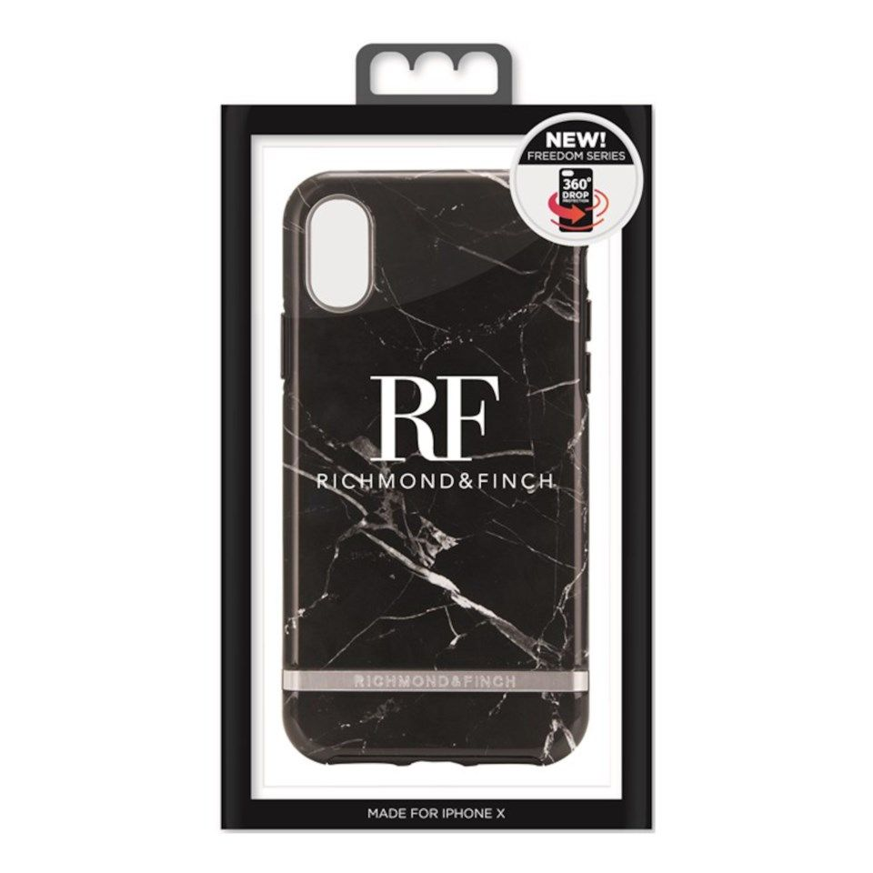 Richmond & Finch Freedom Case Mobilskal för iPhone X och Xs Black Marble
