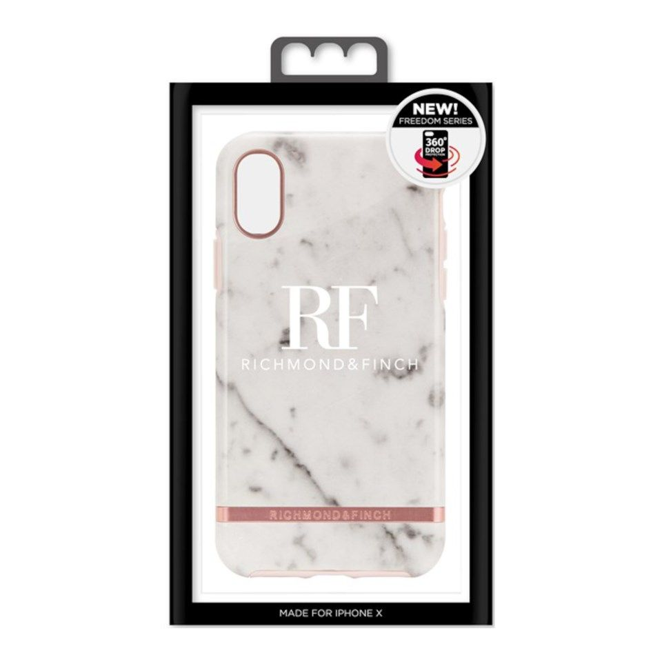 Richmond & Finch Freedom Case Mobildeksel for iPhone X og Xs White Marble