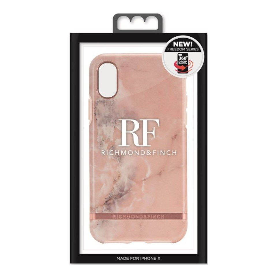 Richmond & Finch Freedom Case Mobilskal för iPhone X och Xs Pink Marble