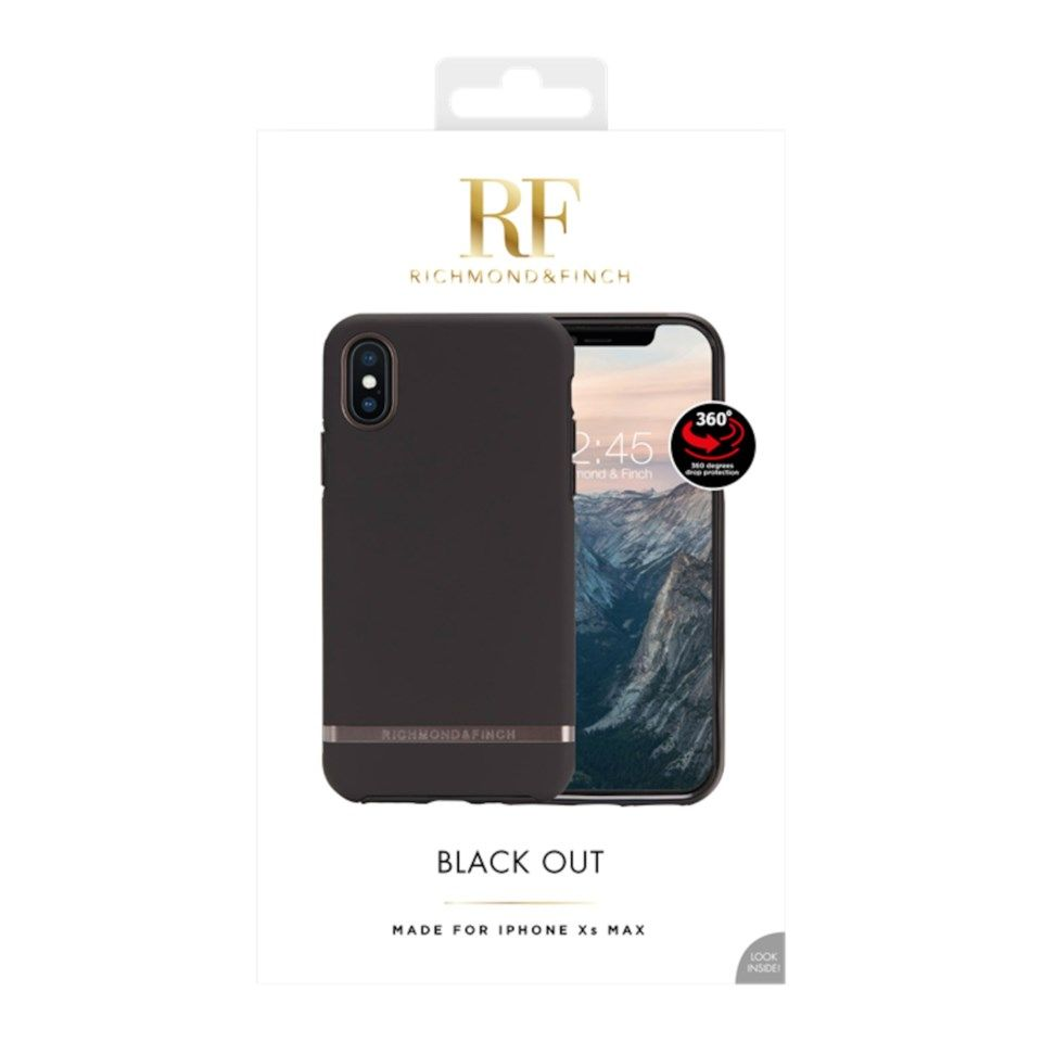 Richmond & Finch Freedom Case Mobildeksel for iPhone Xs Max Black Out