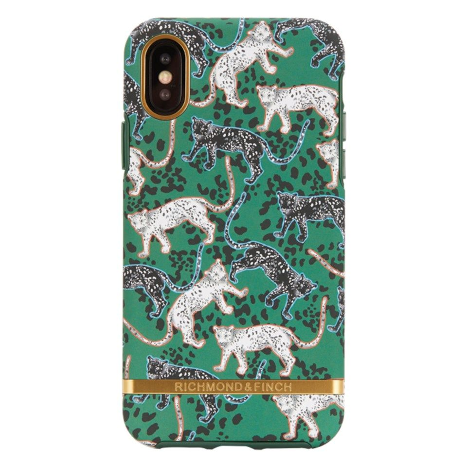 Richmond & Finch Freedom Case Mobilskal för iPhone Xs Max Green Leopard
