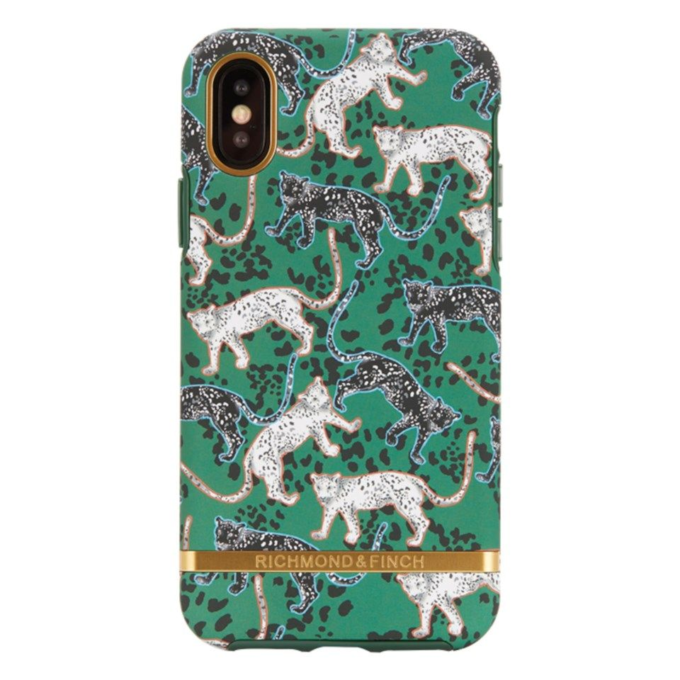 Richmond & Finch Freedom Case Mobildeksel for iPhone X og Xs Green Leopard