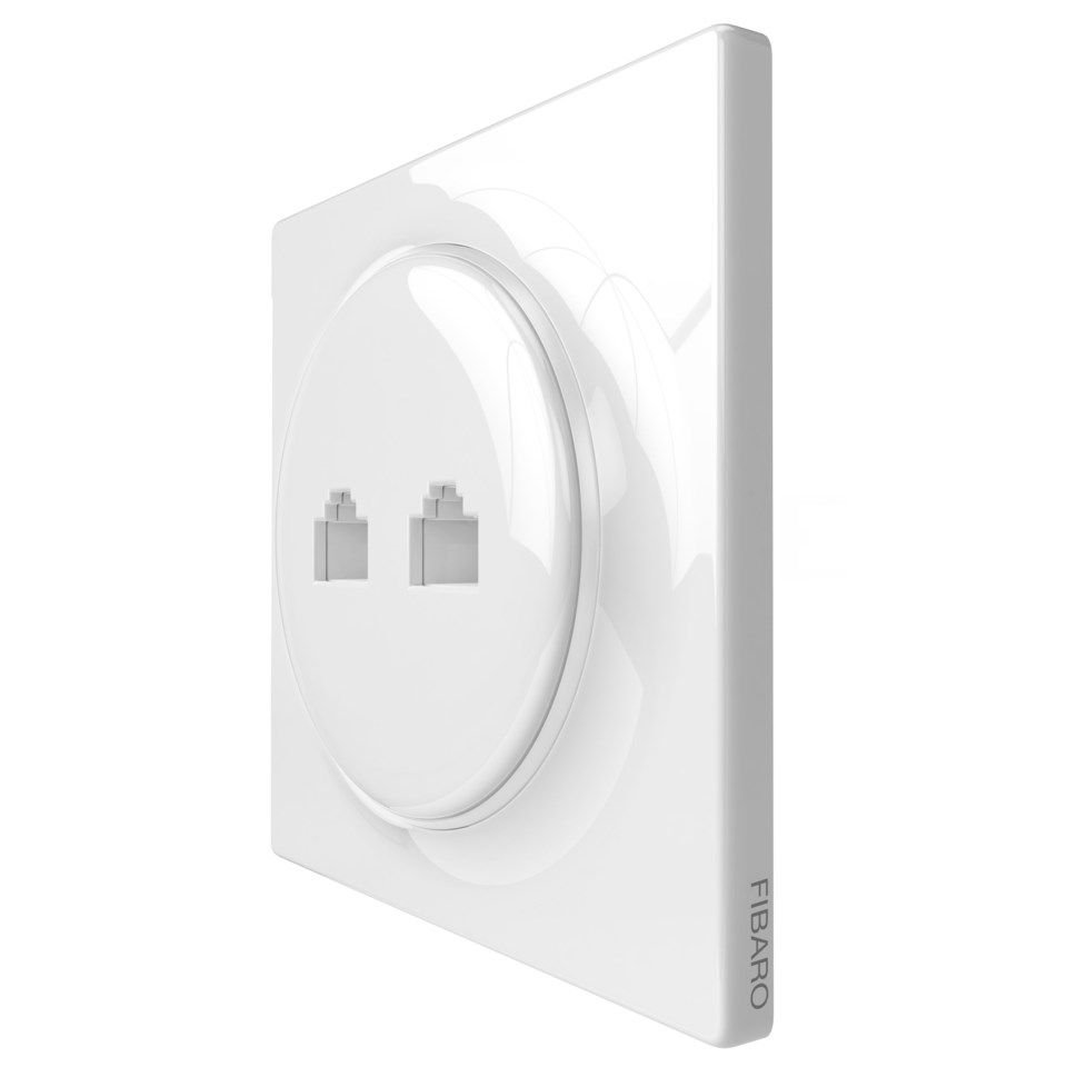 Fibaro Walli N Ethernet Outlet Infällt UTP-nätverksuttag Cat. 6 2-port