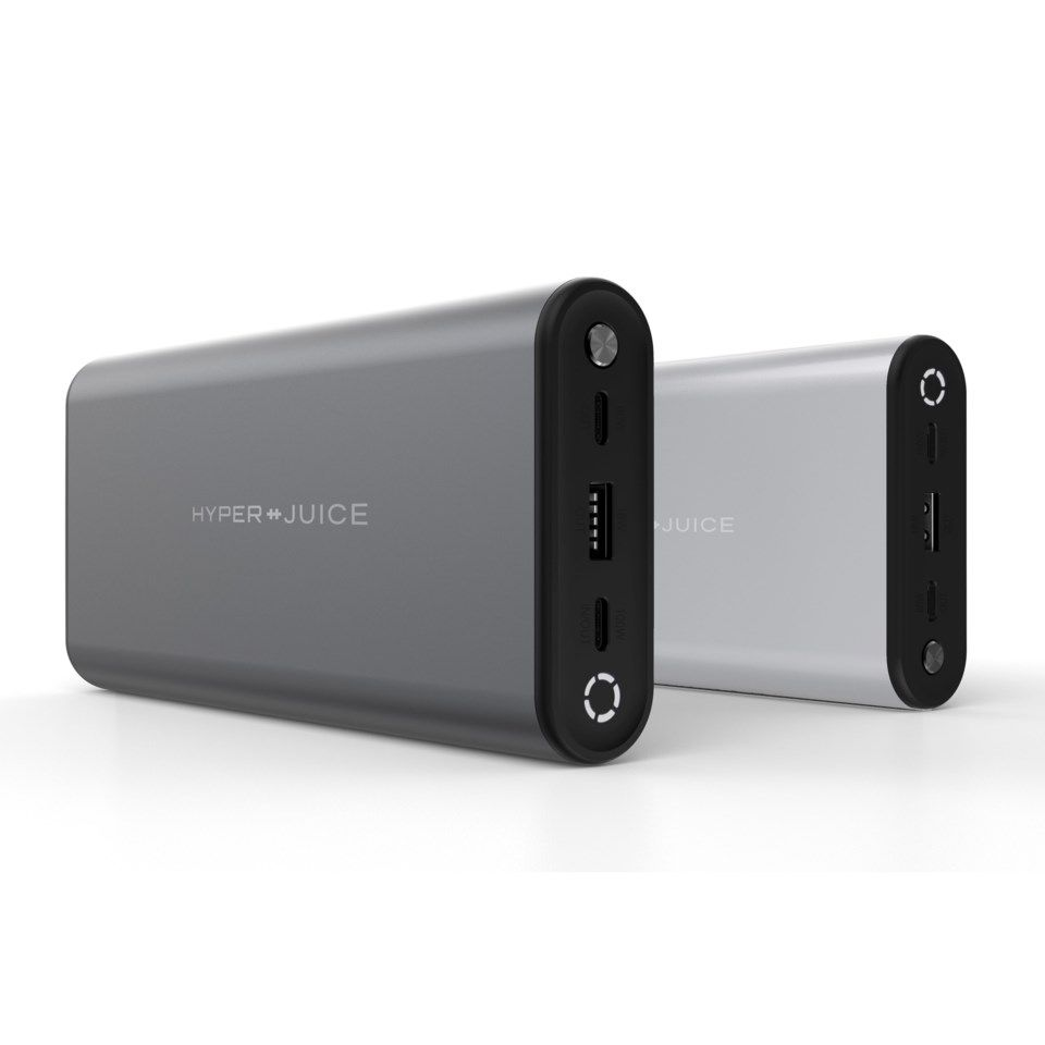 Hyperjuice USB-C Powerbank for datamaskin og mobil 27000 mAh Space gray