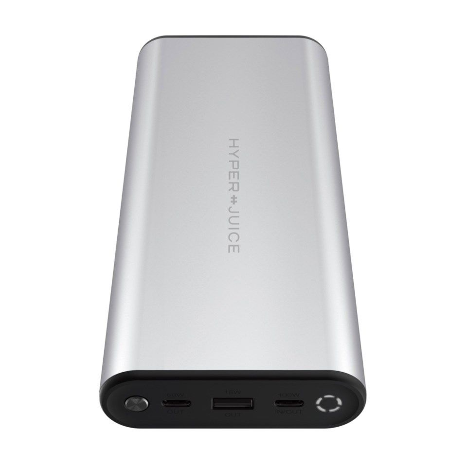 Hyperjuice USB-C Powerbank for datamaskin og mobil 27000 mAh Sølv