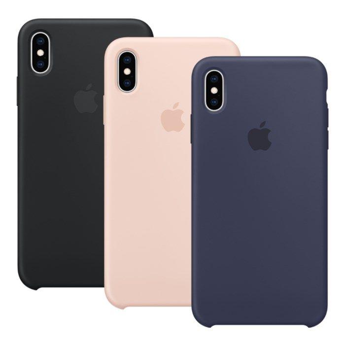 Apple Silikonskal till iPhone XS Max Rosa
