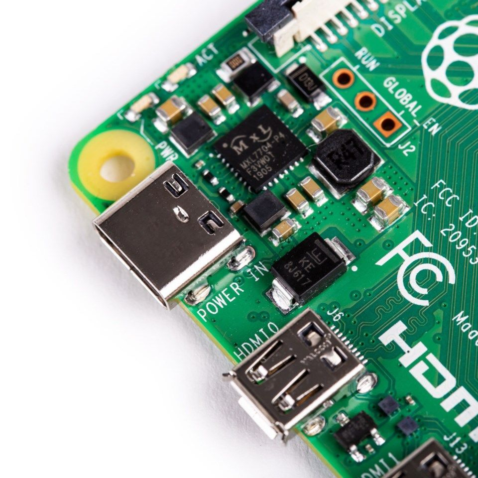 Raspberry Pi 4 Model B Enkortsdator 4 GB RAM