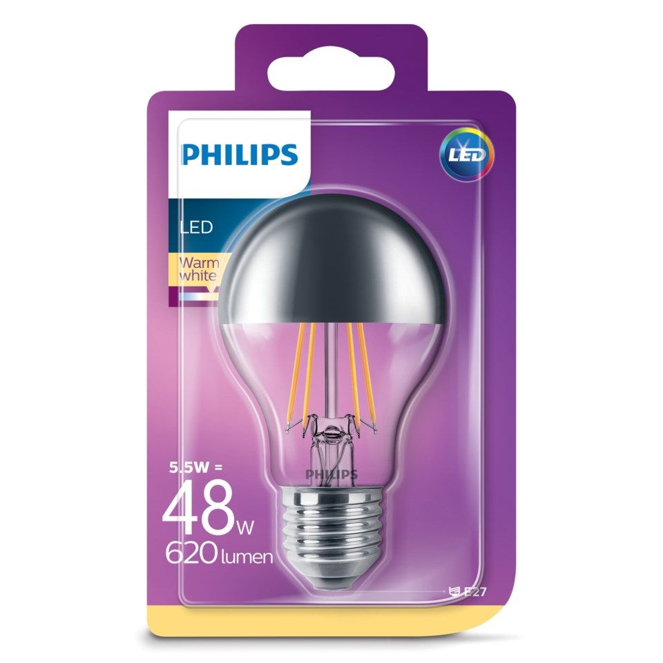 Philips LED-lampa Reflektor E27 620 lm