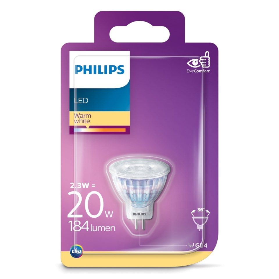 Philips LED-pære GU4 184 lm
