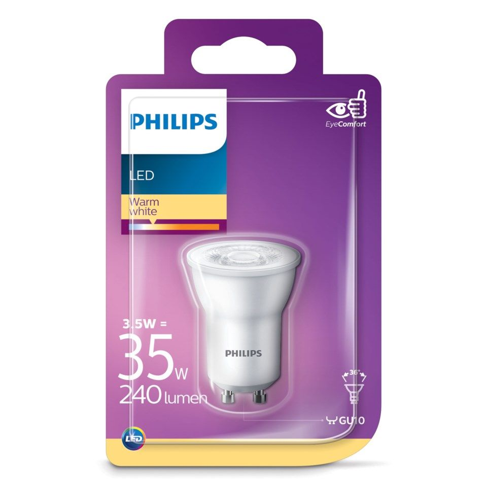 Philips LED-lampa GU10 240 lm