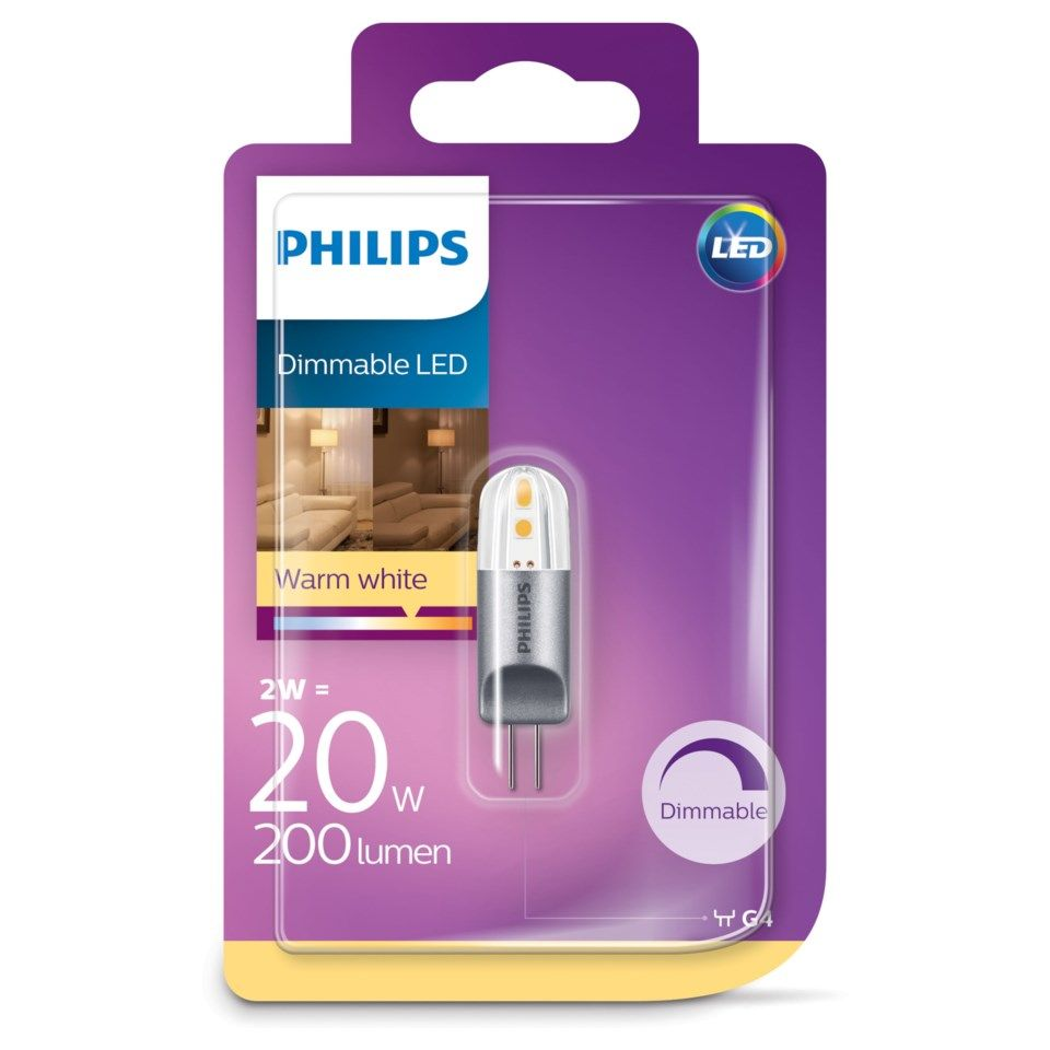 Philips LED-lampa Dimbar G4 200 lm