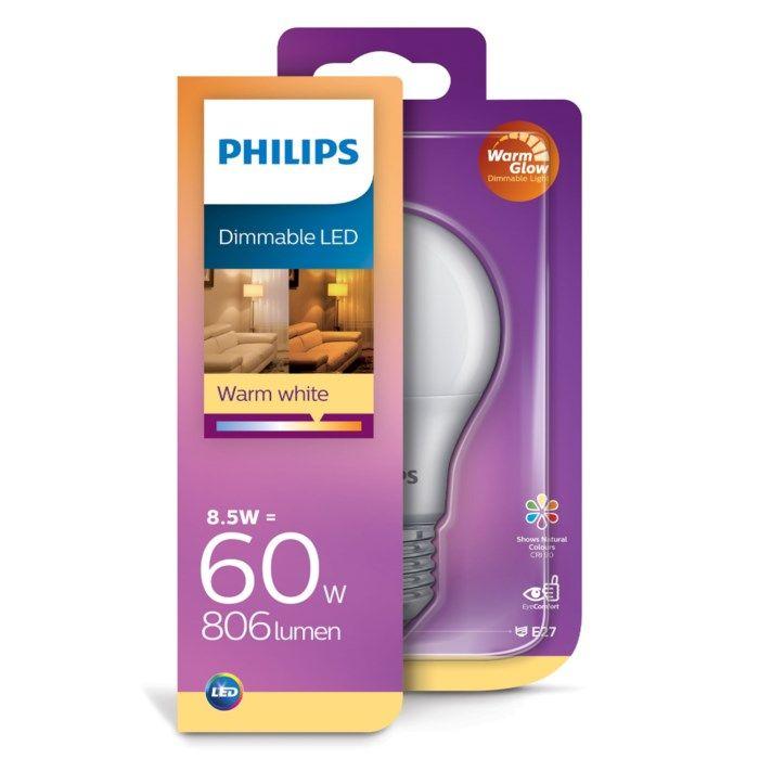 Philips Dimbar LED-lampa E27 806 lm