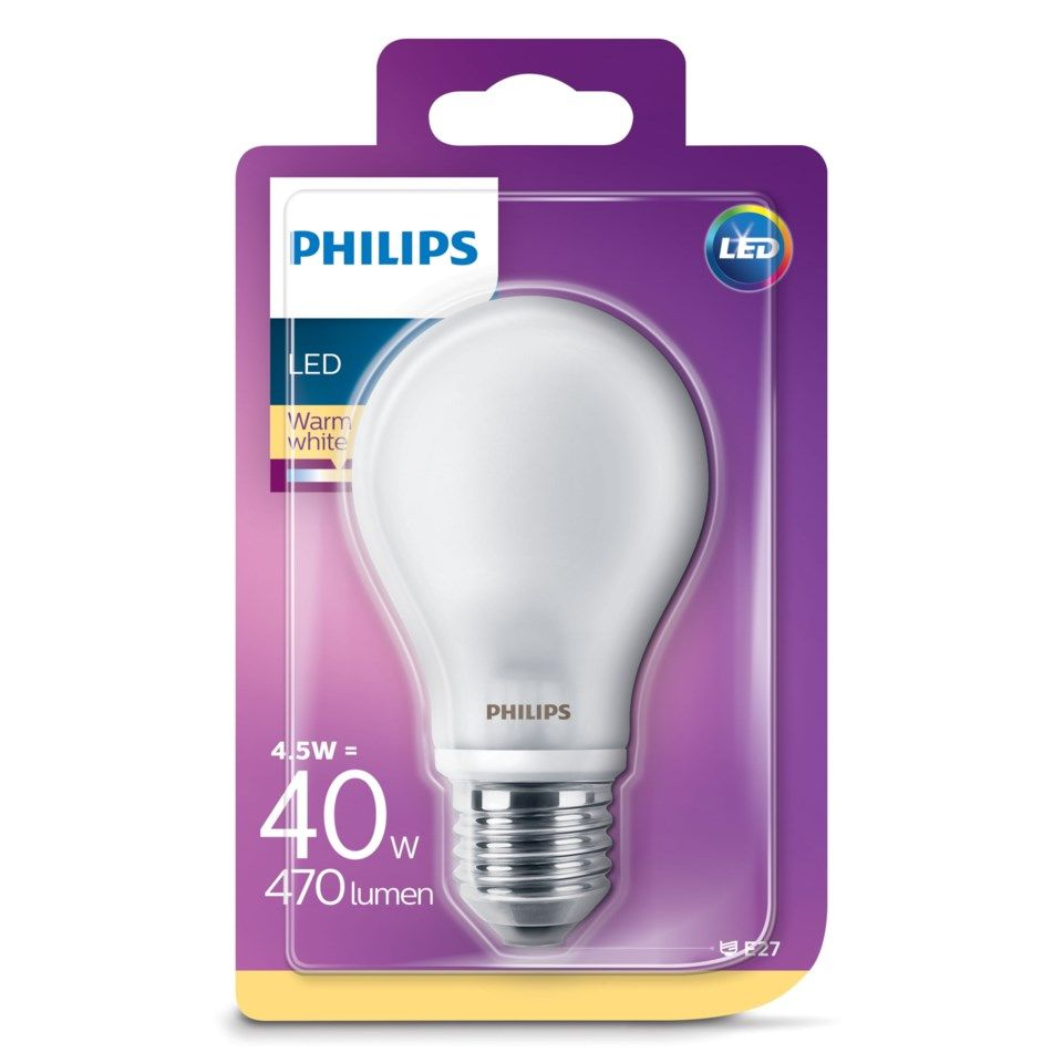 Philips LED-globepære E27 470 lm