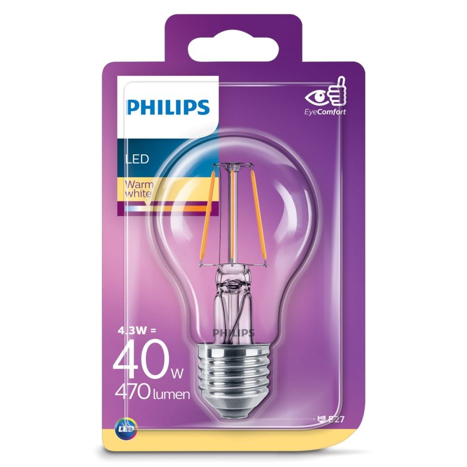 Philips Globlampa LED E27 470 lm