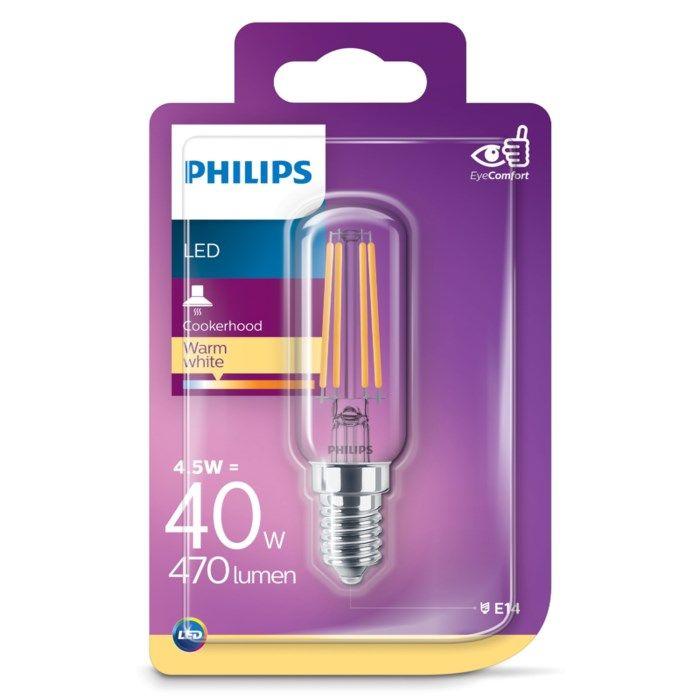 Philips LED-lampa Päron E14 470 lm