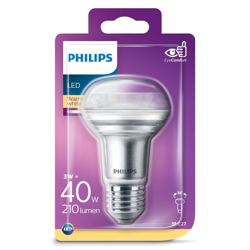 Philips LED-pære Reflektor E27 255 lm